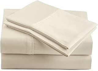 Peru Pima - 415 Thread Count Percale - 100% Peruvian Pima Cotton - Queen Bed Sheet Set, Ivory