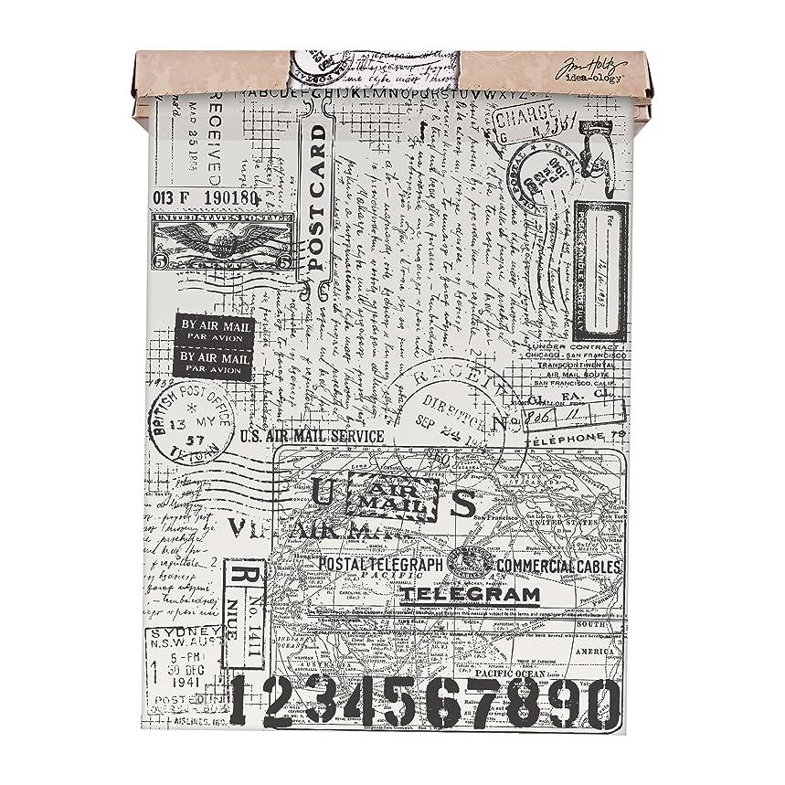 ADVANTUS CORPORATION Tim Holtz Idea-ology Postale Tissue Wrap, Decorative Craft Paper, 1-12 Inch Wide Roll, 15 Feet per Roll, TH93181
