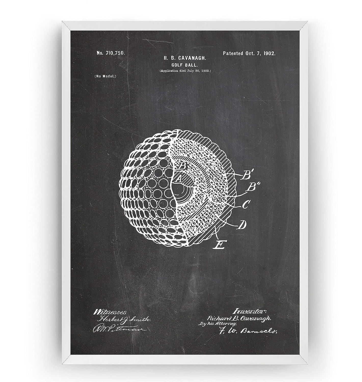 Golf Ball 1902 Patent Print - Fathers Vin Dad Fashion Golfer Sports Gift San Diego Mall
