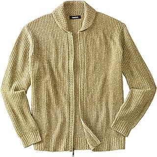 Men's Big & Tall Shaker Knit Zip-Front Cardigan