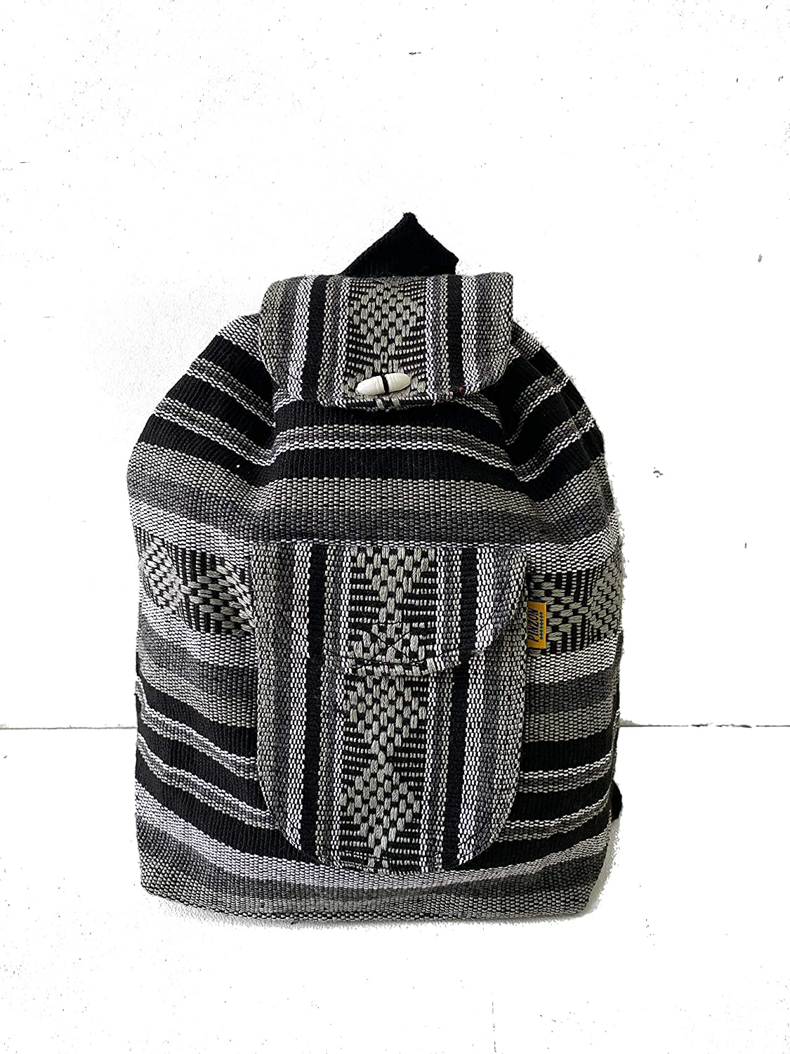 PINZON Ranking TOP16 UNISEX LARGE BACKPACK WOVEN Super sale DRAWSTRING CANVAS