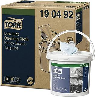Tork 190492 Seau de chiffons de nettoyage non pelucheux Premium, système W10 / Contient une bobine de chiffons un pli - 1 ...