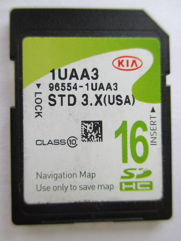 1UAA3 2012 2013 2014 2015 KIA SORENTO Navigation MAP Sd Card ,GPS, U.S.A OEM PART # 96554-1UAA3 16GB STD 3.X