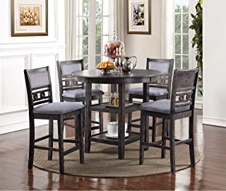 New Classic Furniture D1701-52S-GRY Gia Counter Dining Set, Gray