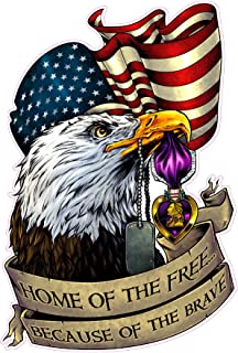 American Eagle Purple Heart Home of the Free Because of the Brave 5