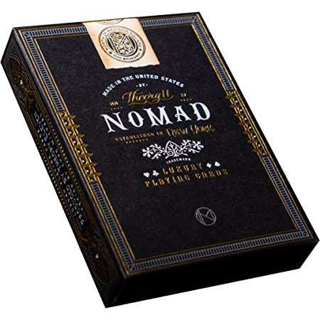 theory11 NoMad Playing Cards Black, 3.5 x 2.6 x 0.7 inches