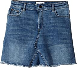 Mid Wash Minnie Skirt in Blue Rose (Big Kids)