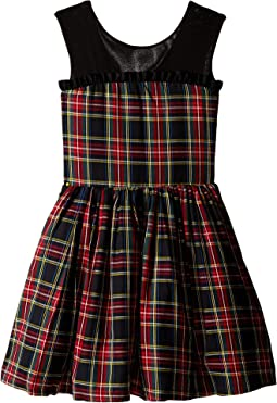 Winter Tartan Party Dress (Little Kids/Big Kids)