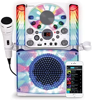 Singing Machine SML625BTW Bluetooth CD+G Karaoke System White