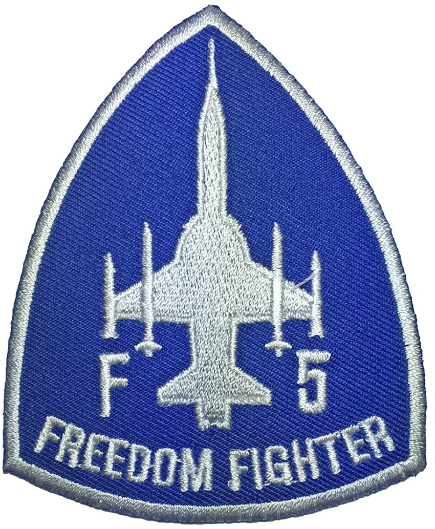 F5 fighter freedom (BLUE)Pilot Military Band Logo Jacket Vest shirt hat blanket backpack T shirt Patches Embroidered Appliques Symbol Badge Cloth Sign Costume Gift 7.5 x 9cm