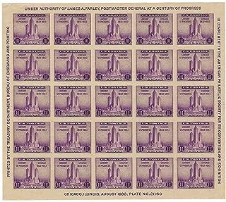 US Stamp Federal Building Century of Progress Full Mint Sheet 25 Stamps Scott 731 CV $35