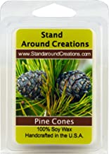 Stand Around Creations 100% All Natural Soy Wax Melt Tart - Pine Cones - The Scent of a Fresh Cut Pine Bough. Notes of Balsam w/Patchouli Combine w/Natural Spruce and Cedar Oils. - 3oz
