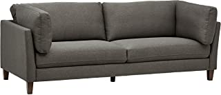 Amazon Brand – Rivet Midtown Contemporary Upholstered Sofa Couch, 92.1W, Charcoal