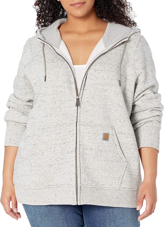 Carhartt womens Clarksburg Full Zip Hoodie (Regular and Plus Sizes)