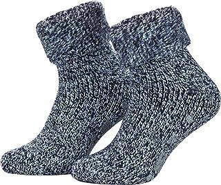 808a240e471d9 Piarini® - 1 paire de chaussettes d'hiver - antidérapant - laine