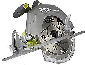 Ryobi P508 One+ 18V Lithium Ion Cordless Brushless 7 1/4 3,800 RPM Circular Saw w/..