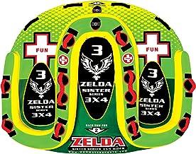 "WOW World of Watersports، 15-1070، Zelda Sister Series چهره به چهره ""S"" شکل های قابل تنظیم ، جبهه و عقب ، 1 تا 3 نفر"