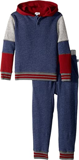 Splendid Littles - Mixed Fabric Hoodie Set (Little Kids/Big Kids)
