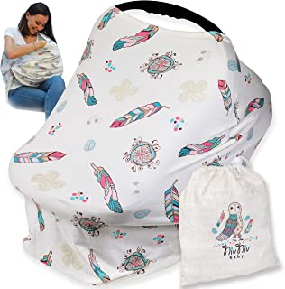 Spacious Nursing Cover Carseat Canopy by Nivniv Baby, Carseat Covers for Babies