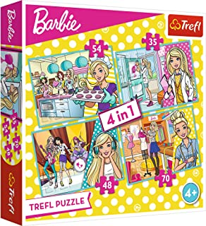"Puzzles -""4in1"" - Barbie's career"
