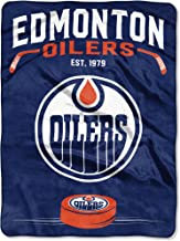 edmonton oilers fleece blanket