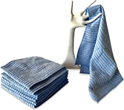 Kitchen Kleen Kitchen Towels - 50% Microfiber/50% Cotton Cleaning Towels - Use Wet or Dry - Cleans Without Soap - Dish Drying Towel - Use Damp on Sinks and Stovetops - 16