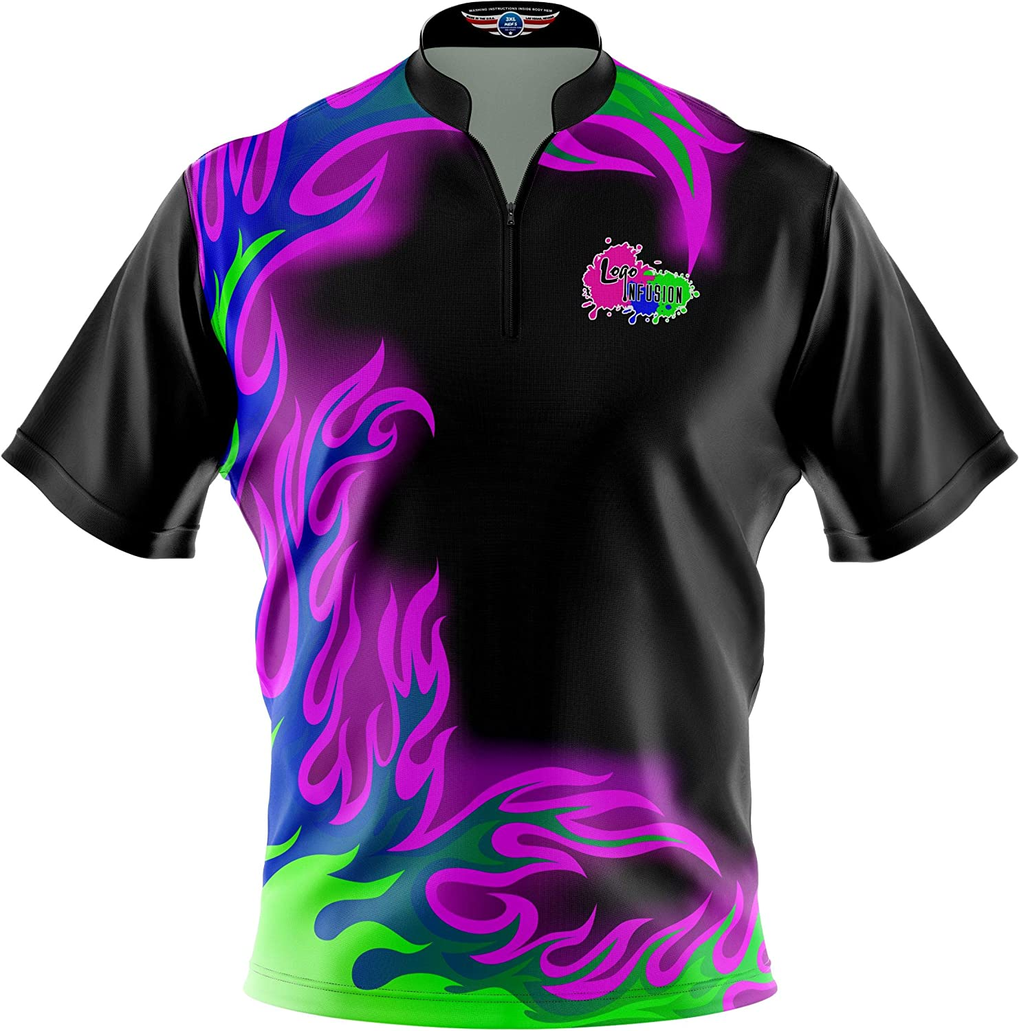 1 year warranty Logo Infusion Bowling Dye-Sublimated Sash Jersey Brand new Collar -