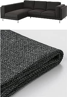 IKEA Nockeby Cover - Slipcover Set Only (Teno Dark Gray, Sofa with Left Chaise)