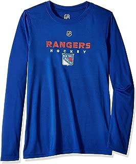 NHL NHL New York Rangers Youth Boys Hyper Long Sleeve Performance Tee, Royal, Youth Small(8)