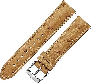 Swiss Watch International 20 MM Light Gold Genuine Ostrich Strap 20OS35C