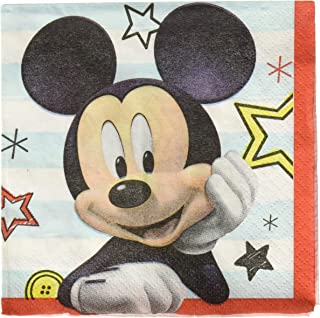 """Amscan 501789 Disney """"Mickey on The Go"""" Paper Napkins, 16pcs, Multicolor, One Size"""