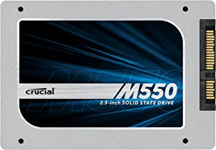 """(OLD MODEL) Crucial M550 128GB SATA 2.5"""" 7mm (with 9.5mm adapter) Internal Solid State Drive - CT128M550SSD1"""