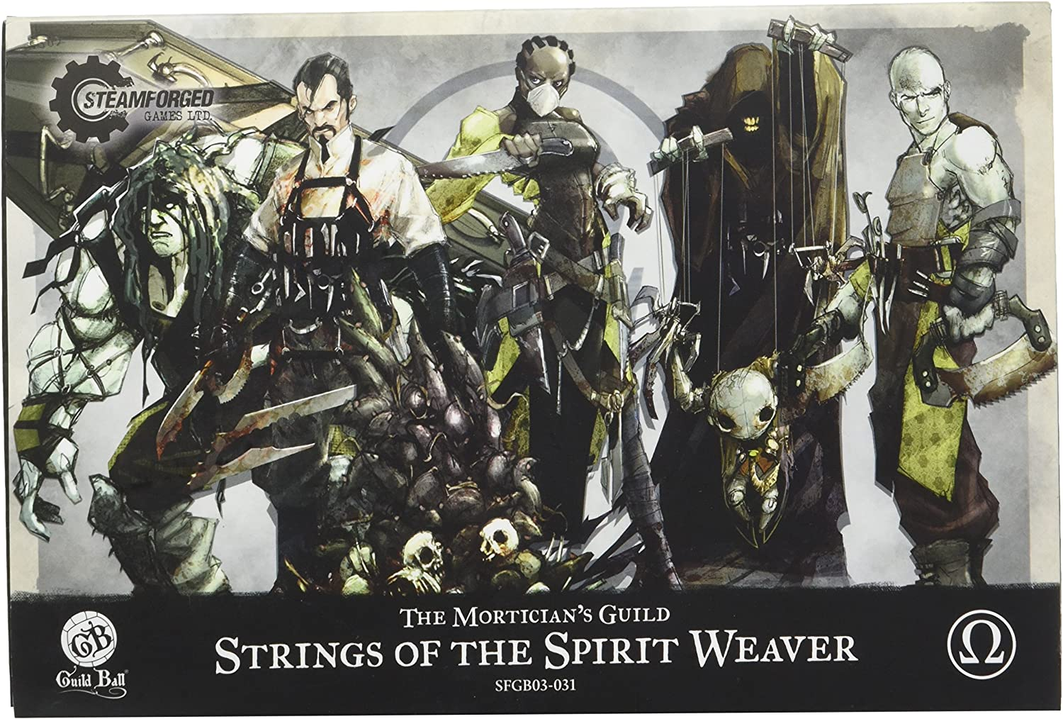 Steamfoged Games Guild Ball  Mortician Strings of The Spirit Weaver Miniature Game Figure