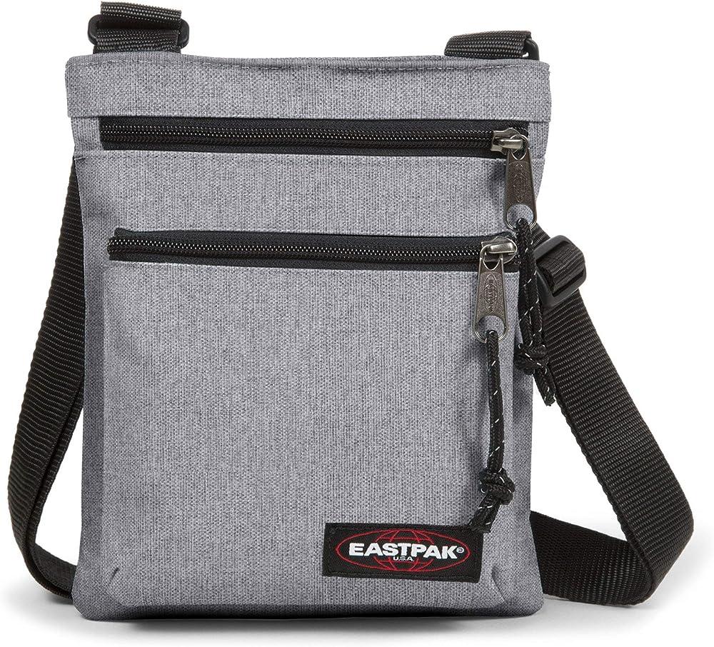 Eastpak rusher, borsello a tracolla per uomo, in nylon 100%, grigio chiaro EK089363