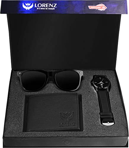 Combo of Black Wallet Watch and Black Sunglasses for Men CM 103SN WL BLK