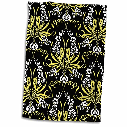 3D Rose Harvest Yellow Hand Towel 15 x 22