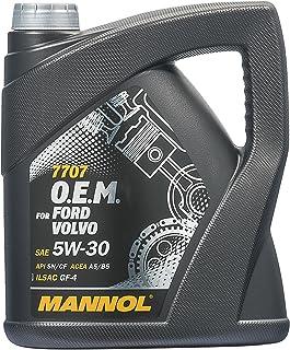 Mannol 7707 O.E.M. Motorolie 1 liter motorolie 5W-30 API SN/CF voor Ford en Volvo.
