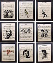 Ready Prints Set of 9 Music Sheet Artwork Print Picture Poster Home Office Bedroom Nursery Kitchen Wall Decor - unframed