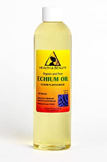 Echium Seed Oil Refined Organic Carrier Cold Pressed Natural Fresh 100% Pure 8 oz