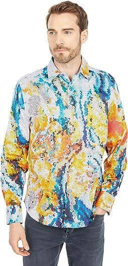 Mosaic Long Sleeve Woven Shirt