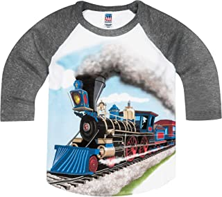 Little Boys' Steam Train Raglan T-Shirt