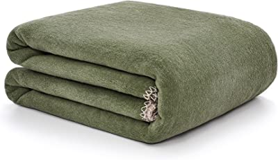 """Arus Home Collection Cotton Blend Double Sided Reversible Luxury Throw Blanket Forest-Sand 60""""X80"""""""