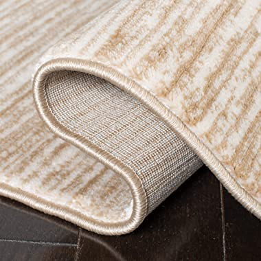 SAFAVIEH Vision Collection VSN606F Modern Ombre Tonal Chic Non-Shedding Living Room Bedroom Dining Home Office Area Rug, 6&#3