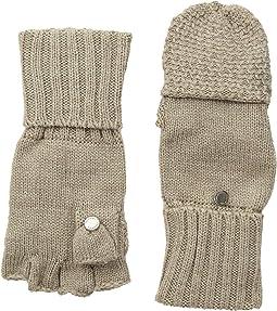 Lurex Textured Flip Top Gloves