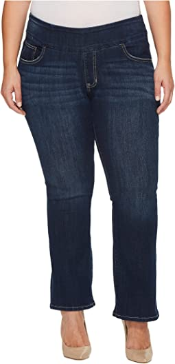 Jag Jeans Plus Size Plus Size Petite Paley Pull-On Boot in Surrel Denim in Meteor Wash