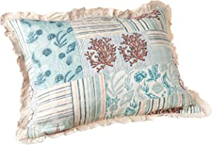 Greenland Home Key West Pillow Sham, Standard, Seafoam