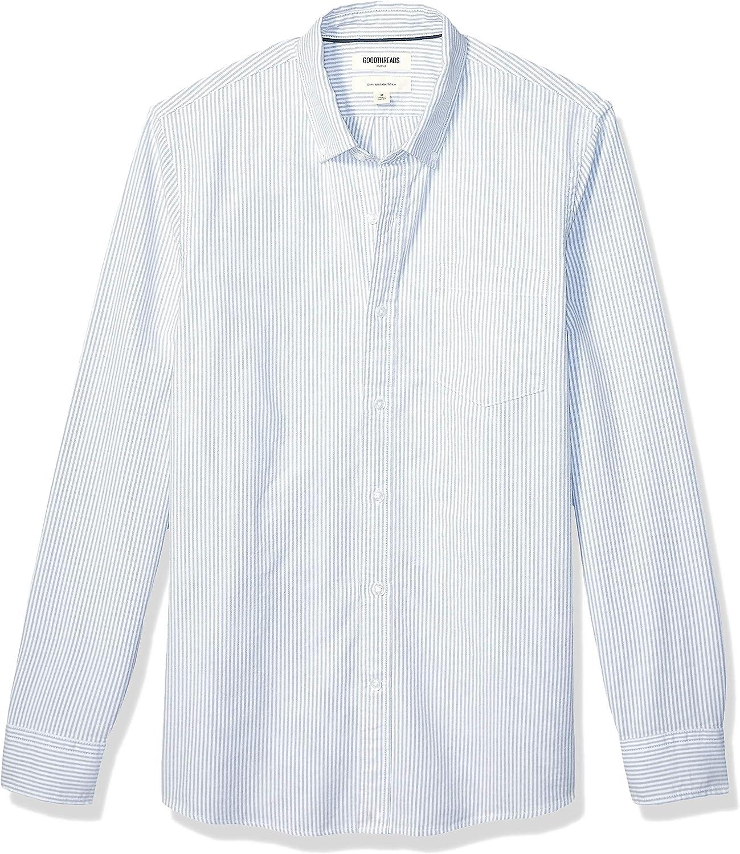Amazon Brand - Goodthreads Men's Slim-Fit Long-Sleeve Striped Oxford Shirt