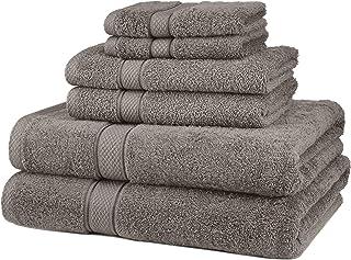 Pinzon Egyptian Cotton 6-Piece Towel Set, Gray