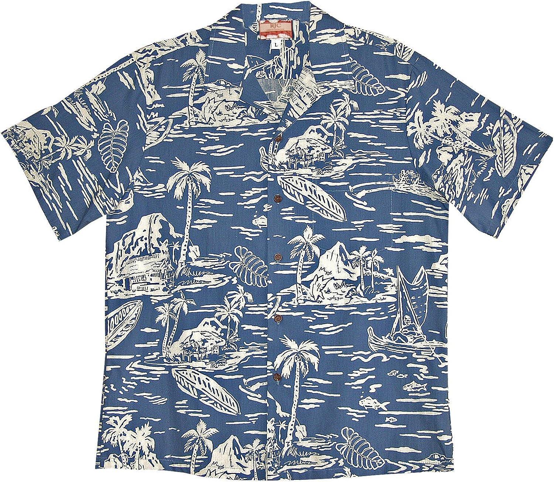 RJC 5X Big Mens Woodcut Hawaiian II Shirt