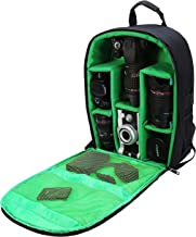 G-raphy Camera Bag Camera Backpack with Rain Cover for DSLR Cameras, Lens, Tripod and Accessories (Green, Large)